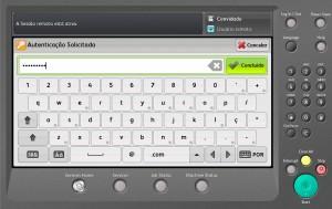 Introduza a sua password de rede e clique no botão Condluído