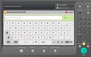 Ecrã inicial de login com as credenciais de rede