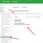 Adicionar assinatura automática ao email